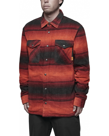 THIRTYTWO DRIFTER POLAR FLEECE JACKET Oxblood
