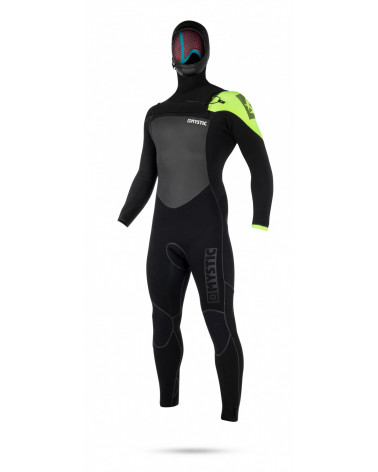 Mystic 2018 Legend Hooded Fullsuit 5/3mm Black/Lime
