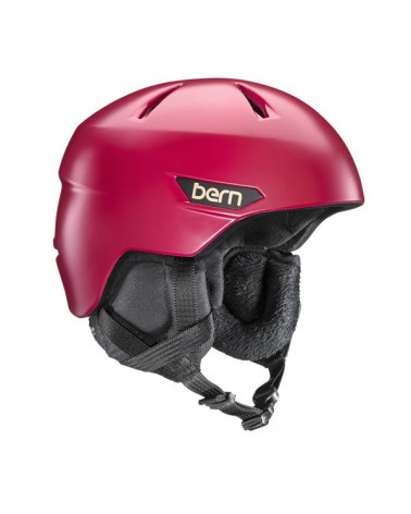 Bern Bristow Satin Cranberry Red Helmet