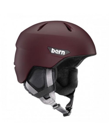 Bern Weston Matte Oxblood Red Helmet