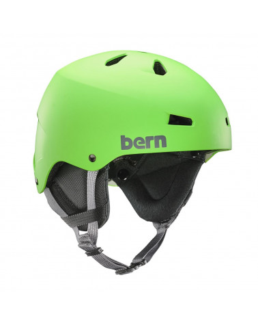 Bern Team Macon Matte Neon Green Helmet