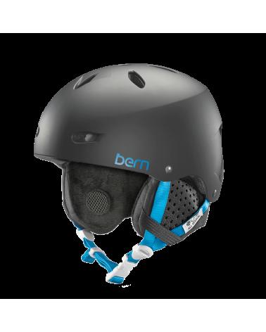 Šalmas Bern Brighton Satin Black Helmet