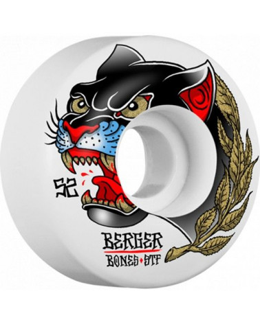 BONES WHEELS STF PRO BERGER PANTHER SKATEBOARD WHEELS SLIMS 52MM