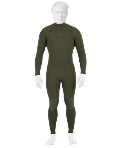 Wetsuit Follow 2019 MENS PRO 3/2MM SEALED STEAMER Olive