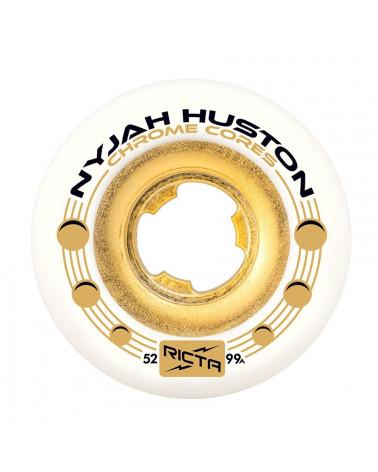 RICTA Nyjah Huston Chrome Core White 99a 52mm Skateboard Wheels